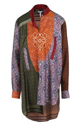 Шелковая блуза свободного кроя с принтом | Фото №1