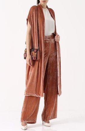 Бархатное пальто свободного кроя Alice + Olivia светло-розового цвета   Фото №1