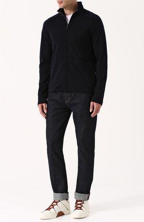 Мужские высокие кожаные кеды на шнуровке ZEGNA COUTURE белого цвета, арт. A2891X-SWI | Фото 2