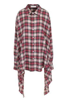 Женская хлопковая блуза асимметричного кроя в клетку Faith Connexion, цвет разноцветный, арт. W1851T0031/W1851T00031 в ЦУМ | Фото №1