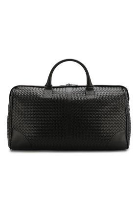 Кожаная дорожная сумка с плетением intrecciato | Фото №1
