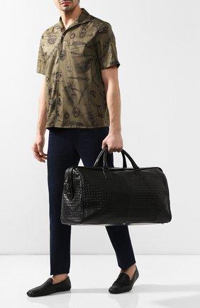 Кожаная дорожная сумка с плетением intrecciato | Фото №2