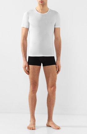Мужские шелковая футболка ZIMMERLI белого цвета, арт. 852-1406 | Фото 2