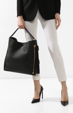 Женская сумка-тоут alix TOM FORD черного цвета, арт. L0803T-CD6   Фото 2
