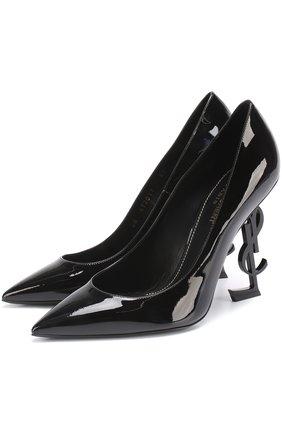 Лаковые туфли Opyum на фигурной шпильке | Фото №1
