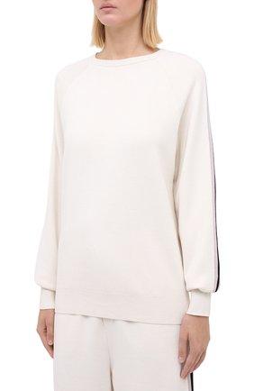 Женский шелковый костюм с джоггерами и пуловером OLIVIA VON HALLE бежевого цвета, арт. SC0002 | Фото 2