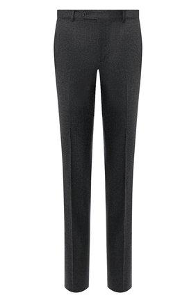 Мужские шерстяные брюки LUCIANO BARBERA темно-серого цвета, арт. 104014/45462 | Фото 1