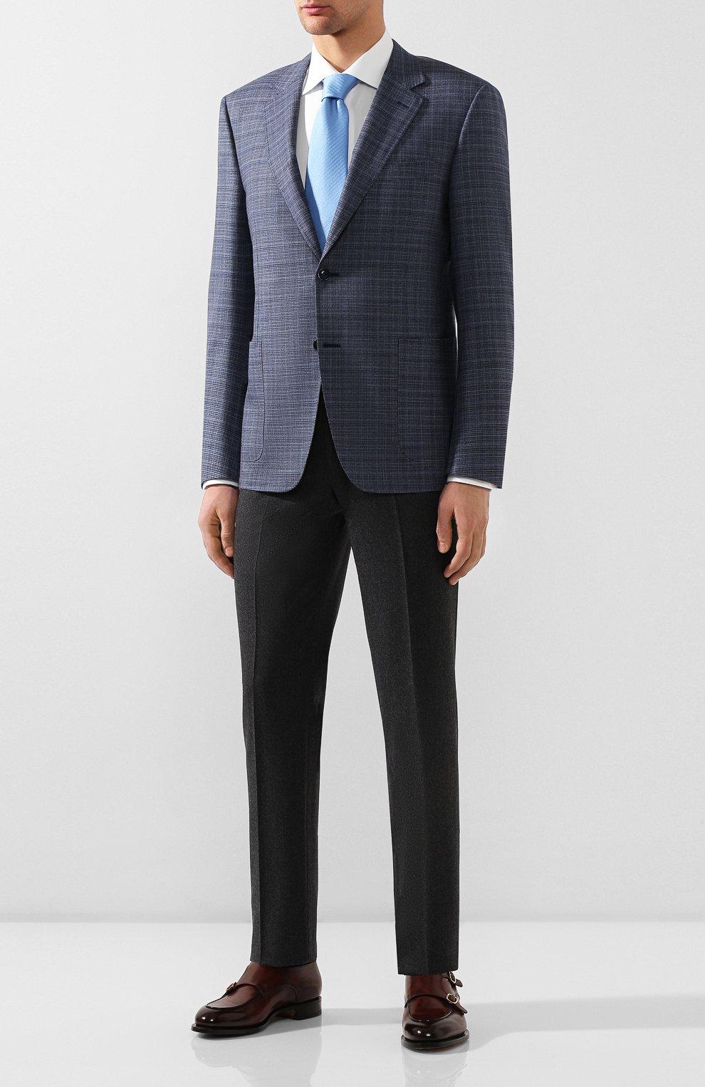 Мужские шерстяные брюки LUCIANO BARBERA темно-серого цвета, арт. 104014/45462 | Фото 2