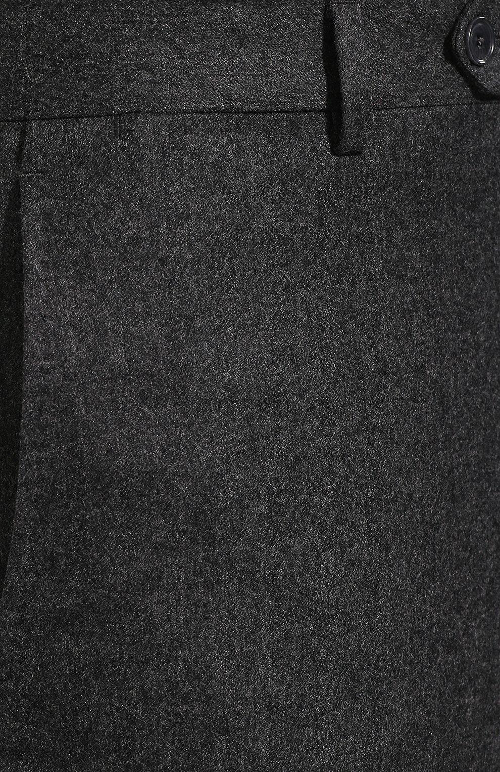 Мужские шерстяные брюки LUCIANO BARBERA темно-серого цвета, арт. 104014/45462 | Фото 5