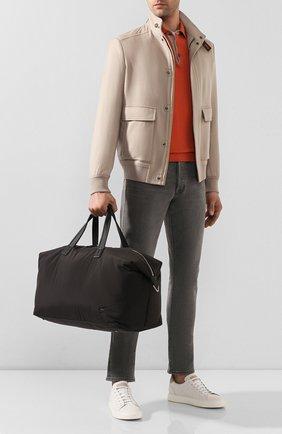 Мужская текстильная дорожная сумка LORO PIANA черного цвета, арт. FAF6679 | Фото 2