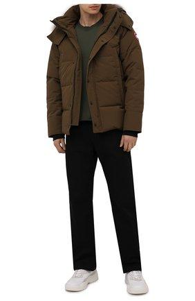 Мужская пуховая куртка wyndham CANADA GOOSE хаки цвета, арт. 3808M | Фото 2