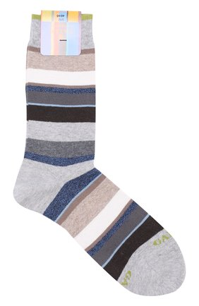 Хлопковые носки в контрастную полоску | Фото №1
