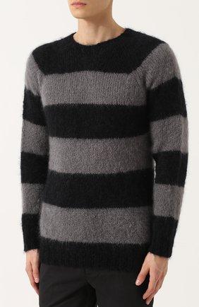 Шерстяной свитер в контрастную полоску   Фото №3