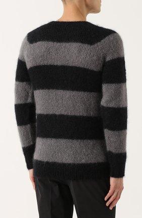 Шерстяной свитер в контрастную полоску   Фото №4