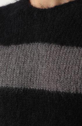 Шерстяной свитер в контрастную полоску   Фото №5