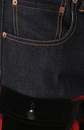 Джинсы прямого кроя с отделкой и широкими отворотами Junya Watanabe x Levi's Junya Watanabe темно-синие | Фото №5