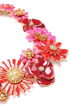 Колье с декором в виде цветов и кристаллами Swarovski   Фото №2