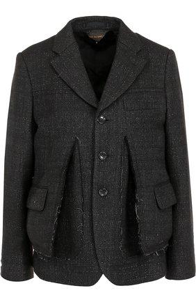 Жакет прямого кроя с накладными карманами | Фото №1