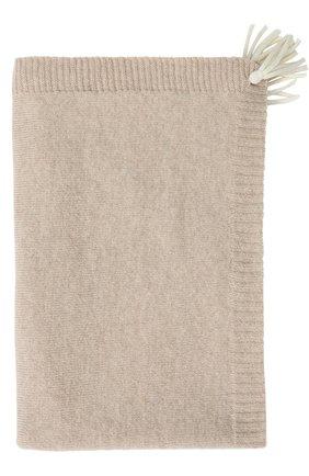 Одеяло из смеси шерсти и кашемира с кистями | Фото №1
