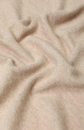Одеяло из смеси шерсти и кашемира с кистями Baby T бежевого цвета | Фото №1