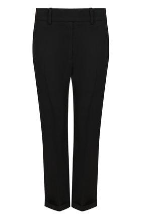 Укороченные шерстяные брюки со стрелками Haider Ackermann черные | Фото №1