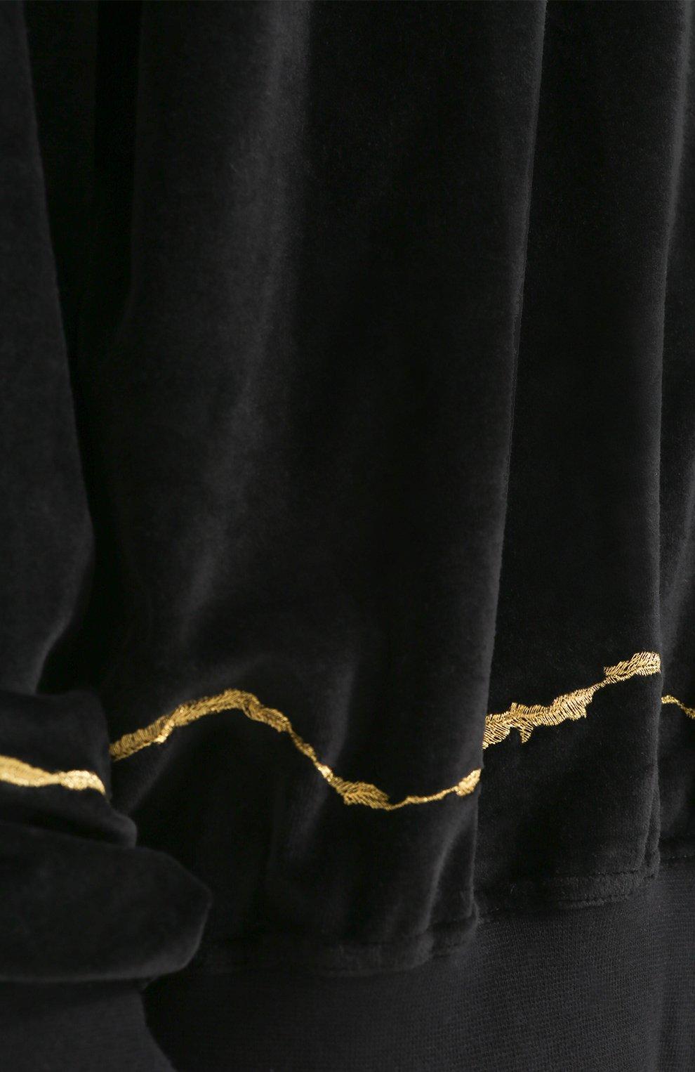 Свитшот свободного кроя из смеси хлопка и шерсти   Фото №5