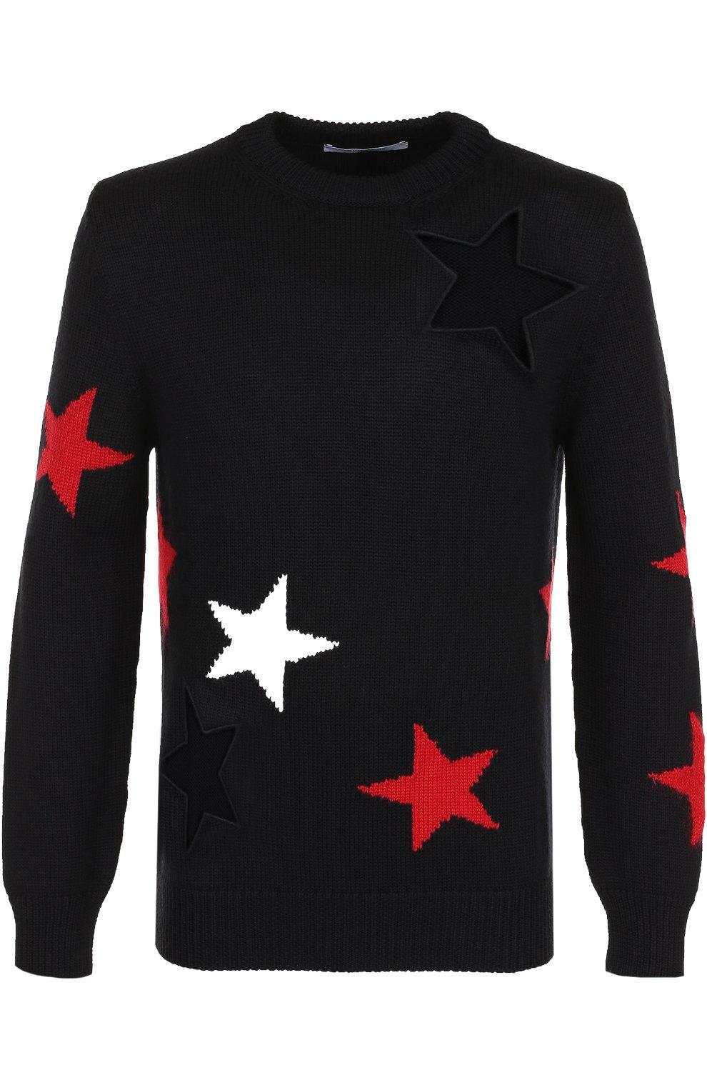 Шерстяной свитер с отделкой | Фото №1