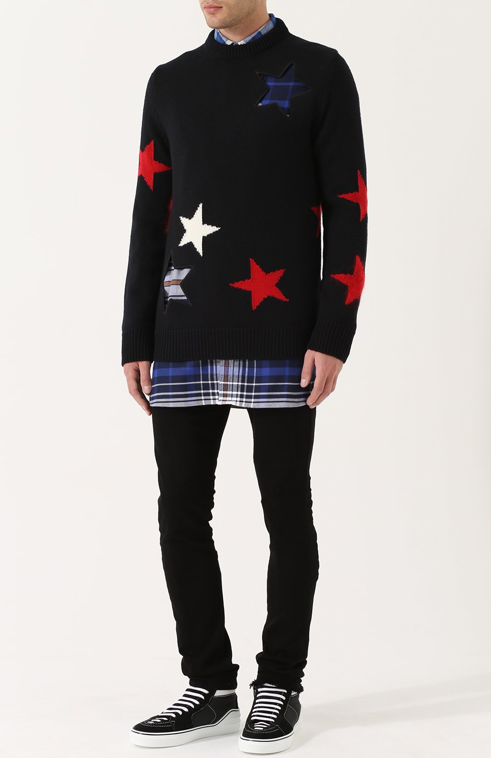 Шерстяной свитер с отделкой | Фото №2