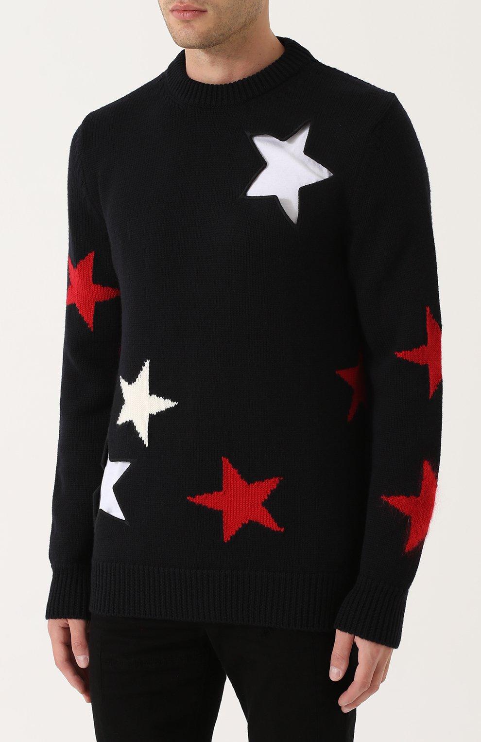 Шерстяной свитер с отделкой | Фото №3