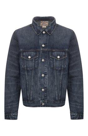 Мужская джинсовая куртка POLO RALPH LAUREN синего цвета, арт. 710673235 | Фото 1 (Материал внешний: Хлопок, Деним; Рукава: Длинные; Мужское Кросс-КТ: Куртка-верхняя одежда, Верхняя одежда; Длина (верхняя одежда): Короткие; Кросс-КТ: Куртка)