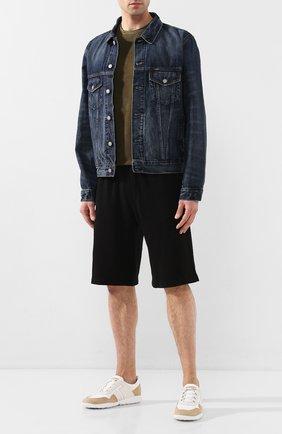 Мужская джинсовая куртка POLO RALPH LAUREN синего цвета, арт. 710673235 | Фото 2 (Материал внешний: Хлопок, Деним; Рукава: Длинные; Мужское Кросс-КТ: Куртка-верхняя одежда, Верхняя одежда; Длина (верхняя одежда): Короткие; Кросс-КТ: Куртка)