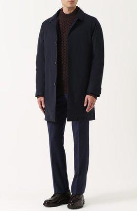 Джемпер фактурной вязки из смеси шерсти и кашемира с шелком   Фото №2
