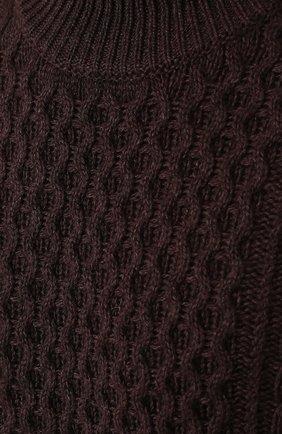 Джемпер фактурной вязки из смеси шерсти и кашемира с шелком   Фото №5