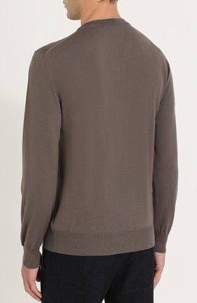 Пуловер из шерсти тонкой вязки | Фото №4