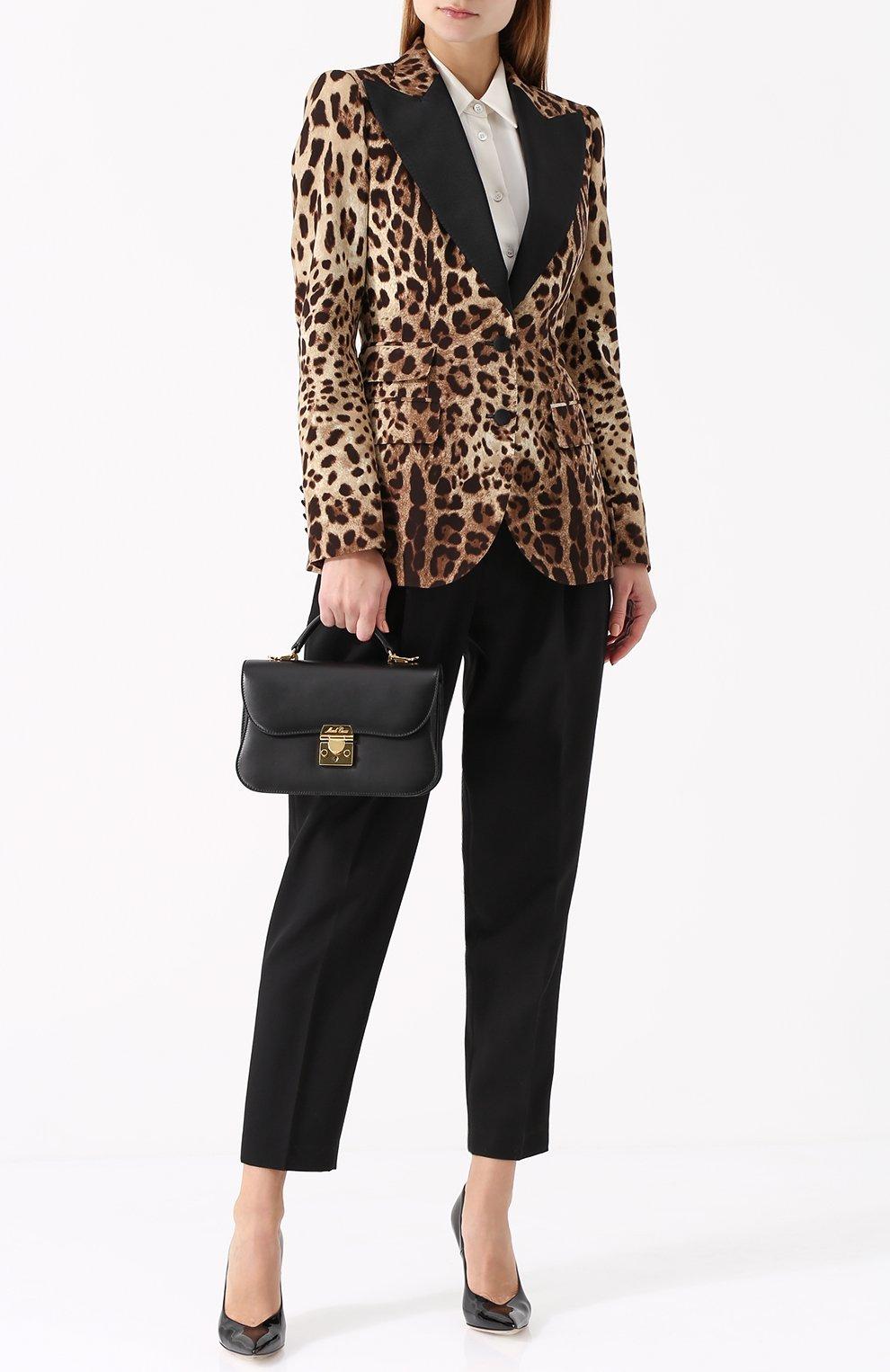 Приталенный жакет с леопардовым принтом | Фото №2