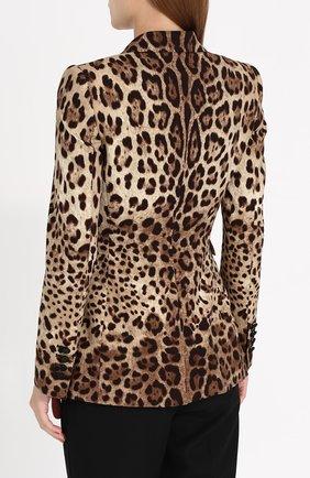 Приталенный жакет с леопардовым принтом | Фото №4