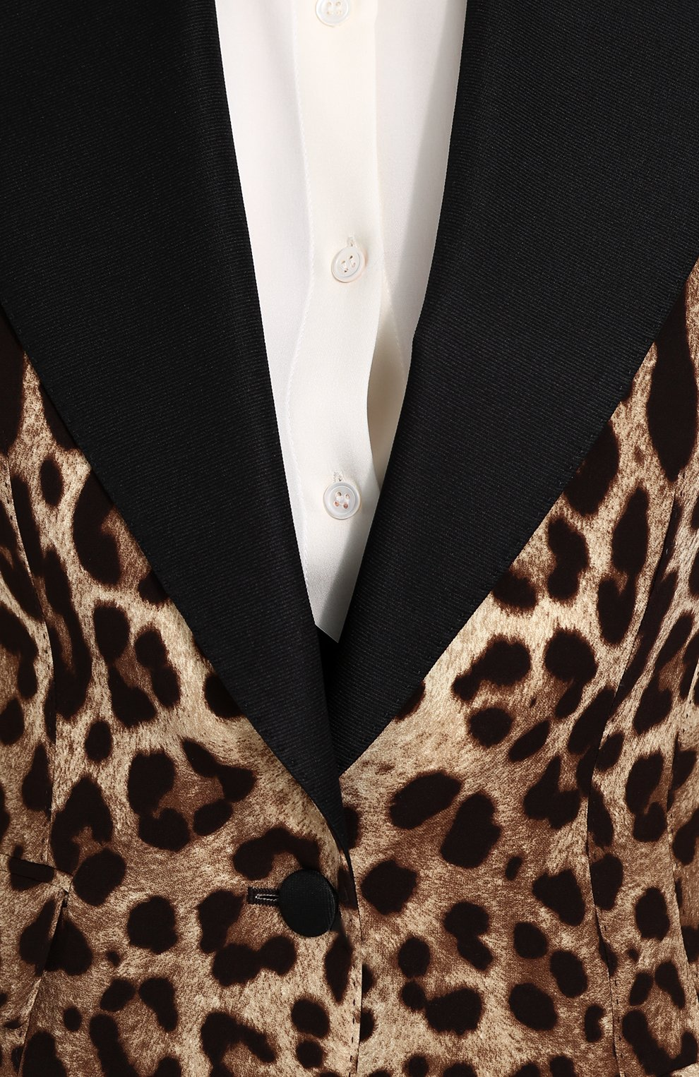 Приталенный жакет с леопардовым принтом | Фото №5
