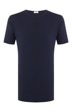 Мужские хлопковая футболка с круглым вырезом ZIMMERLI темно-синего цвета, арт. 172-1461 | Фото 1