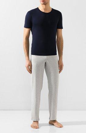 Мужские хлопковая футболка с круглым вырезом ZIMMERLI темно-синего цвета, арт. 172-1461 | Фото 2