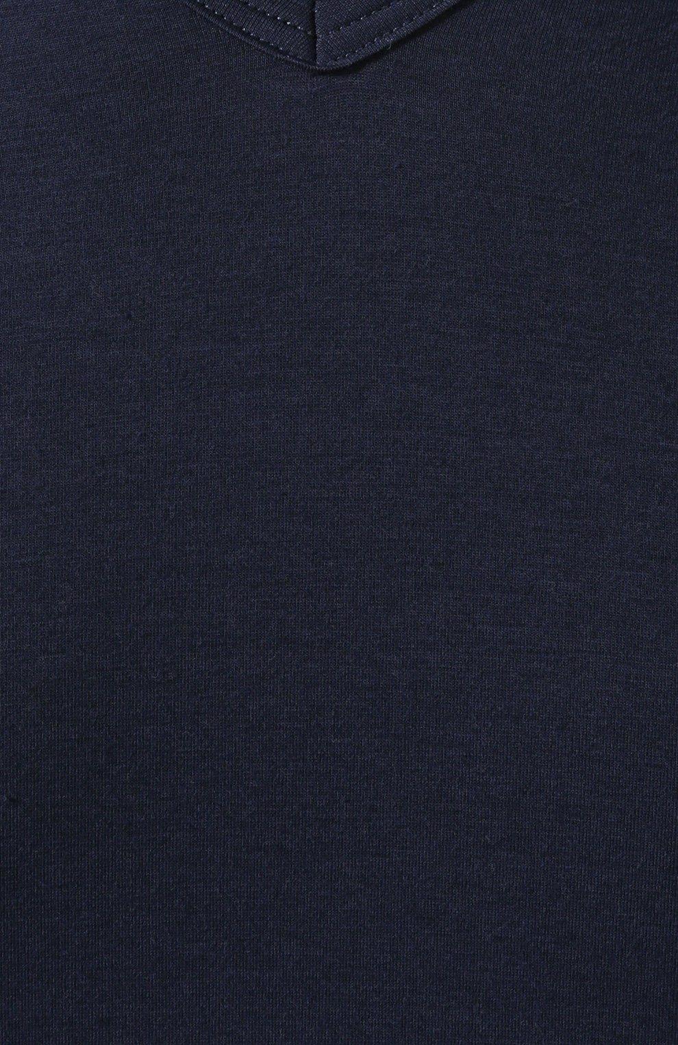 Мужская хлопковая футболка с v-образным вырезом ZIMMERLI темно-синего цвета, арт. 172-1462 | Фото 5 (Кросс-КТ: домашняя одежда; Рукава: Короткие; Длина (для топов): Стандартные; Материал внешний: Хлопок; Мужское Кросс-КТ: Футболка-белье; Статус проверки: Проверена категория)