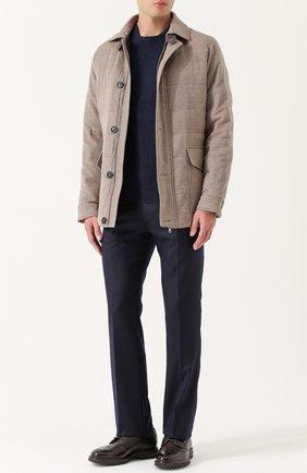 Мужской шерстяные брюки BERWICH темно-синего цвета, арт. SC/1ALC/VB5991 | Фото 2