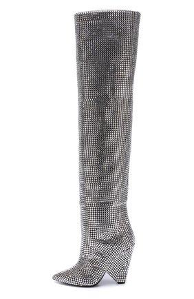 Замшевые сапоги Niki с отделкой кристаллами Swarovski | Фото №4