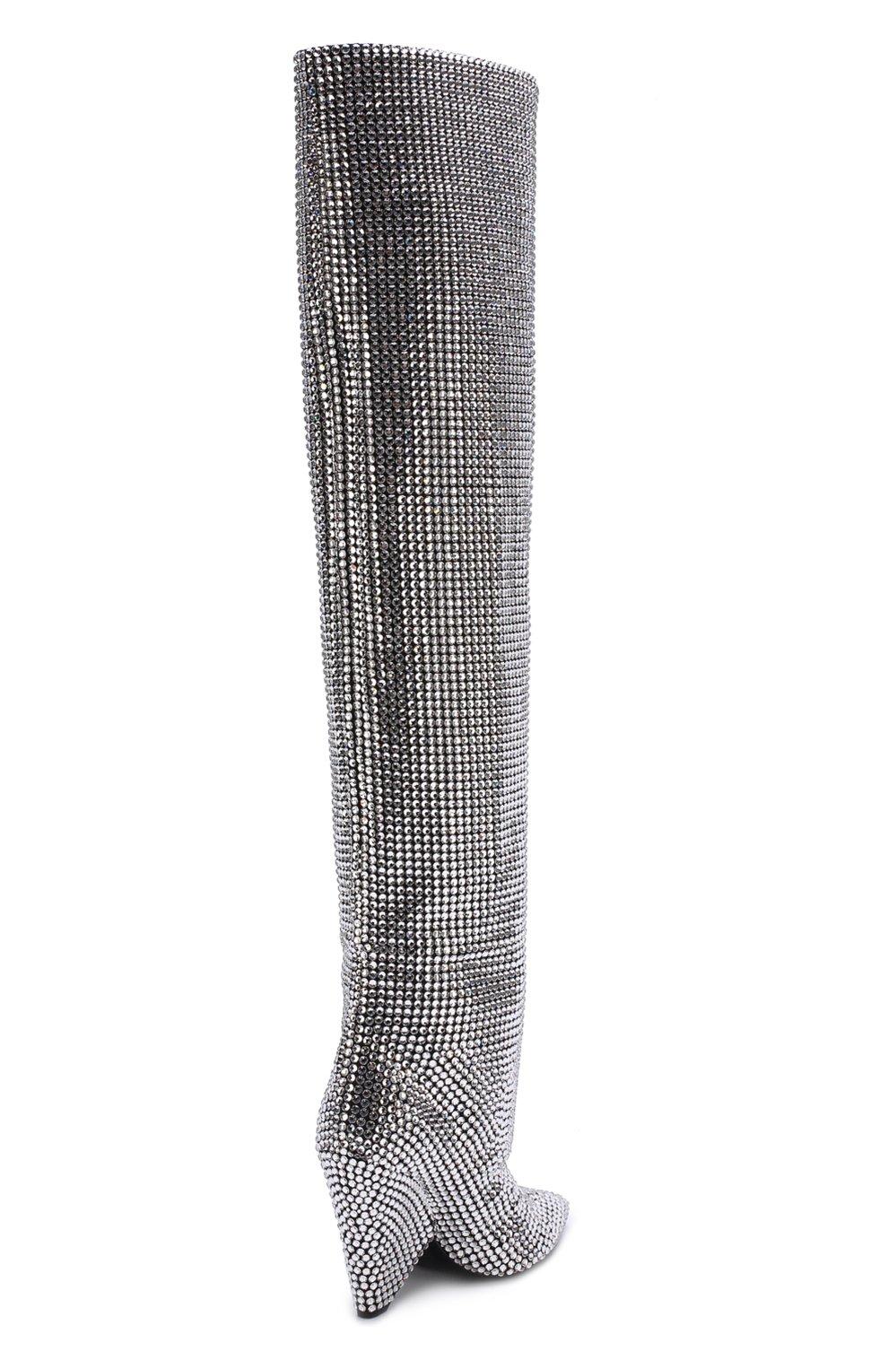 Замшевые сапоги Niki с отделкой кристаллами Swarovski | Фото №5