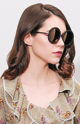 Женские солнцезащитные очки SUNDAY SOMEWHERE черного цвета, арт. ISABELLA-R0S | Фото 2