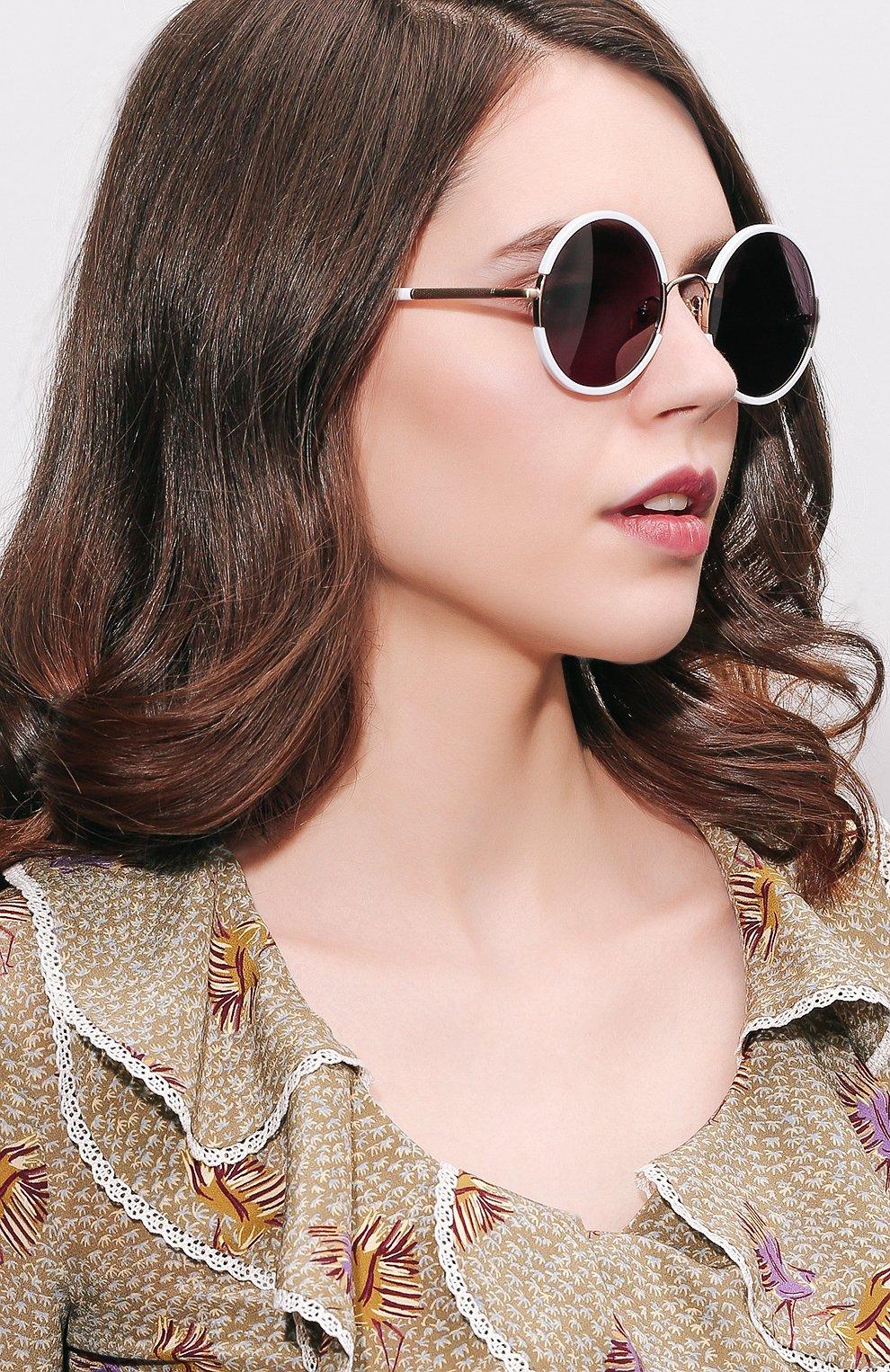 Женские солнцезащитные очки SUNDAY SOMEWHERE белого цвета, арт. YETTI-WHT | Фото 2
