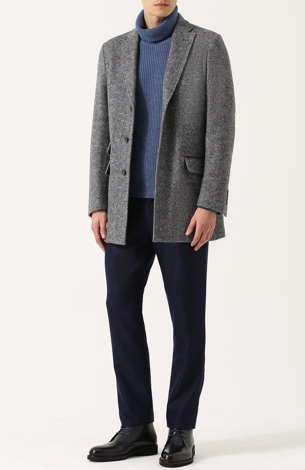 Кашемировый свитер с воротником-стойкой | Фото №2