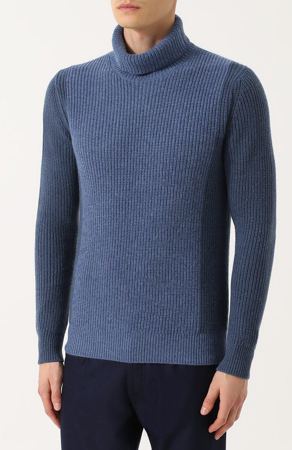 Кашемировый свитер с воротником-стойкой | Фото №3