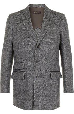 Однобортное пальто из смеси шерсти и кашемира