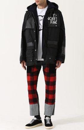 Утепленная куртка unya Watanabe x The North Face Junya Watanabe черная | Фото №1