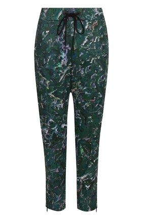 Укороченные брюки прямого кроя с принтом | Фото №1